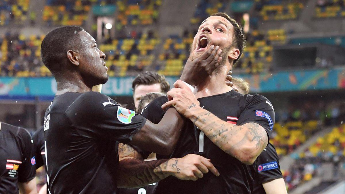 David Alaba (l.) versucht Marko Arnautovic zu beruhigen
