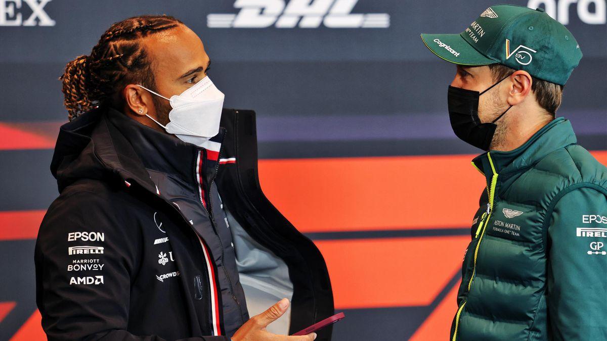 Sebastian Vettel und Lewis Hamilton (Monaco GP)