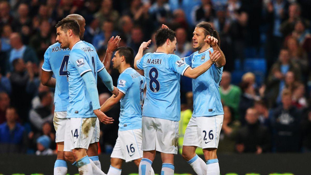 Manchester City - WBA maçından bir kare