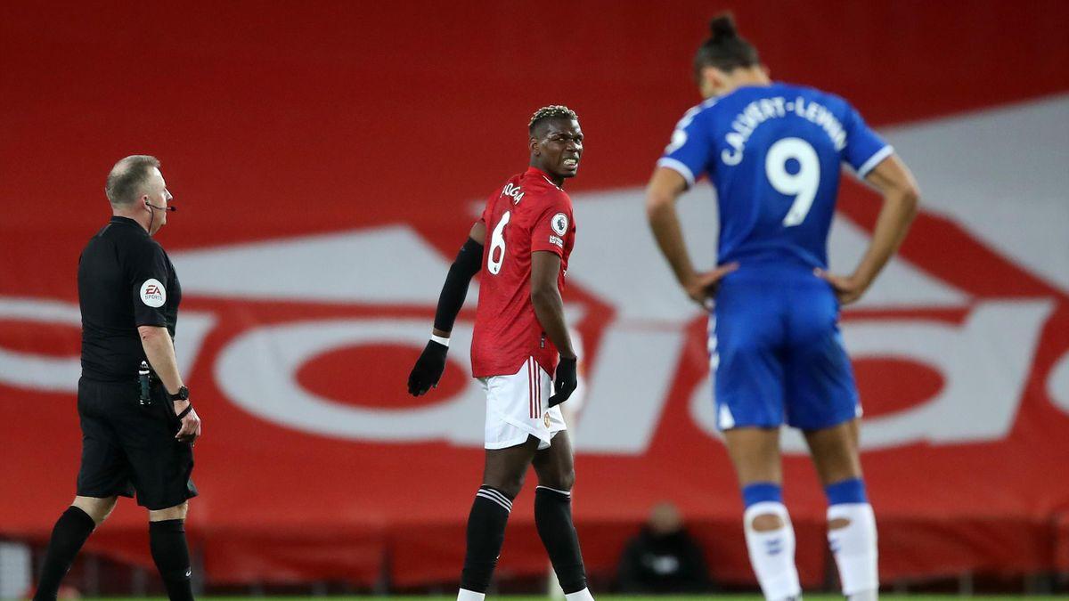 Paul Pogba (Manchester United) im Spiel gegen den FC Everton