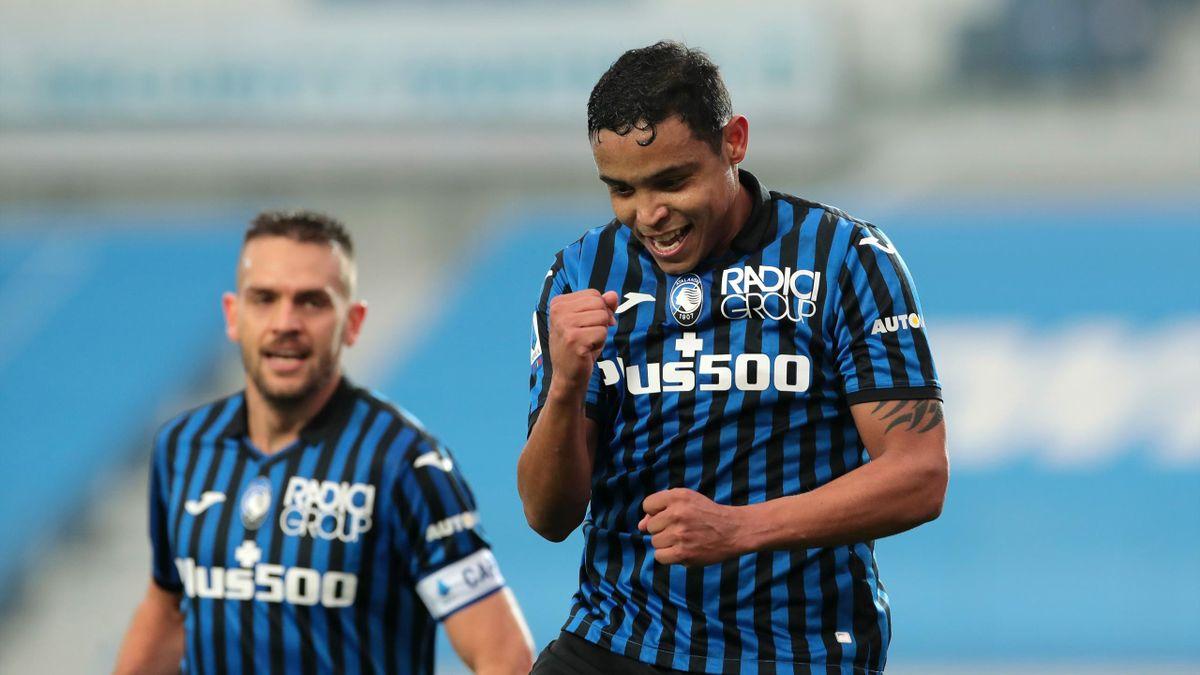 Luis Muriel esulta per il gol al Torino, Atalanta-Torino, Getty Images
