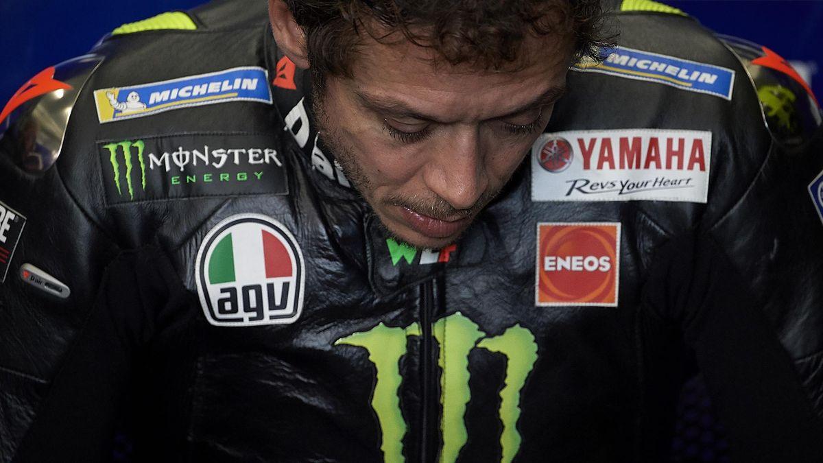 Valentino Rossi (Yamaha Factory) en marge du Grand Prix de Valence, le 15 novembre 2019