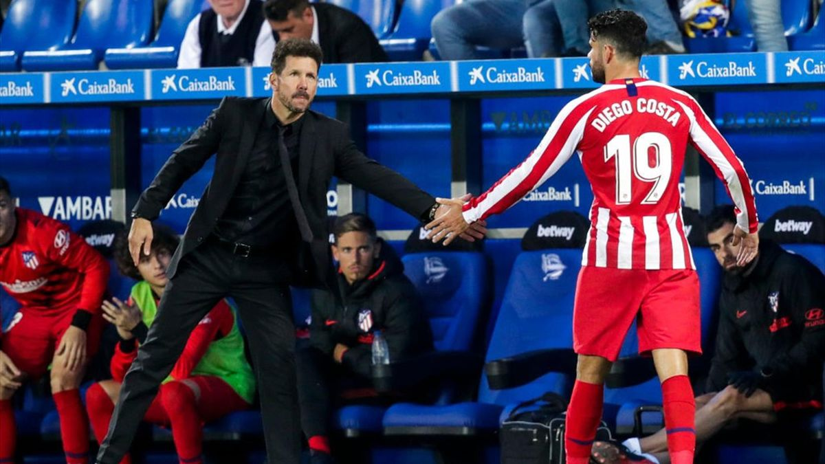 Diego Simeone and Diego Costa, Atlético de Madrid