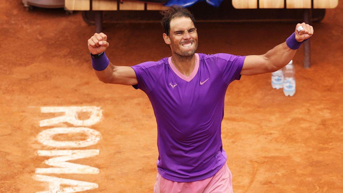 Rafael Nadal jubelt über seinen Sieg in Rom gegen Alexander Zverev