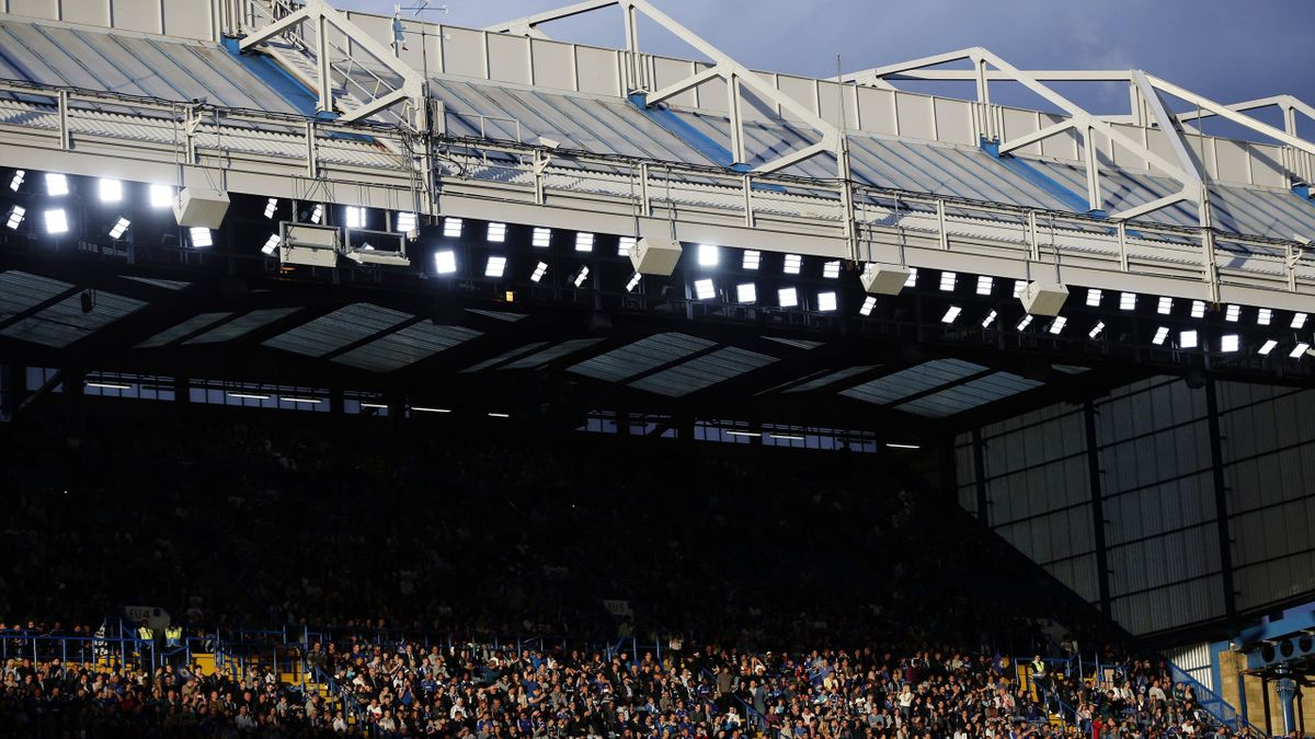 Chelsea fans watch the action at Stamford Bridge