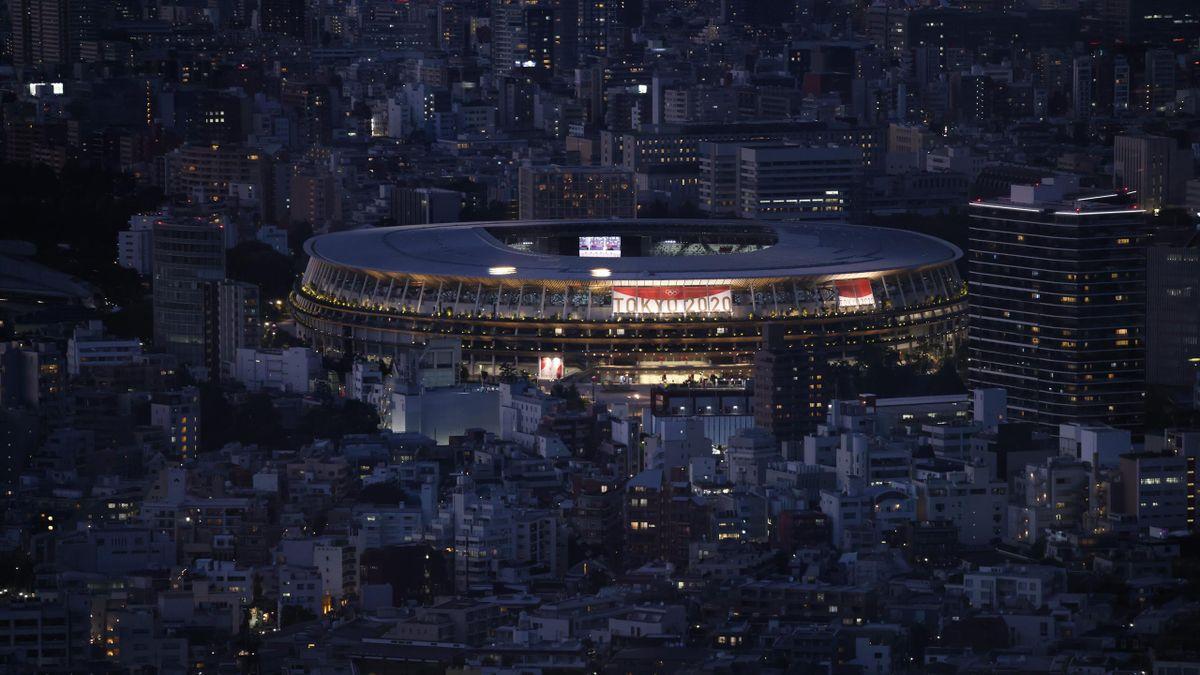 El Estadio Olímpico de Tokio se prepara para la ceremonia de inauguración de los Juegos Olímpicos