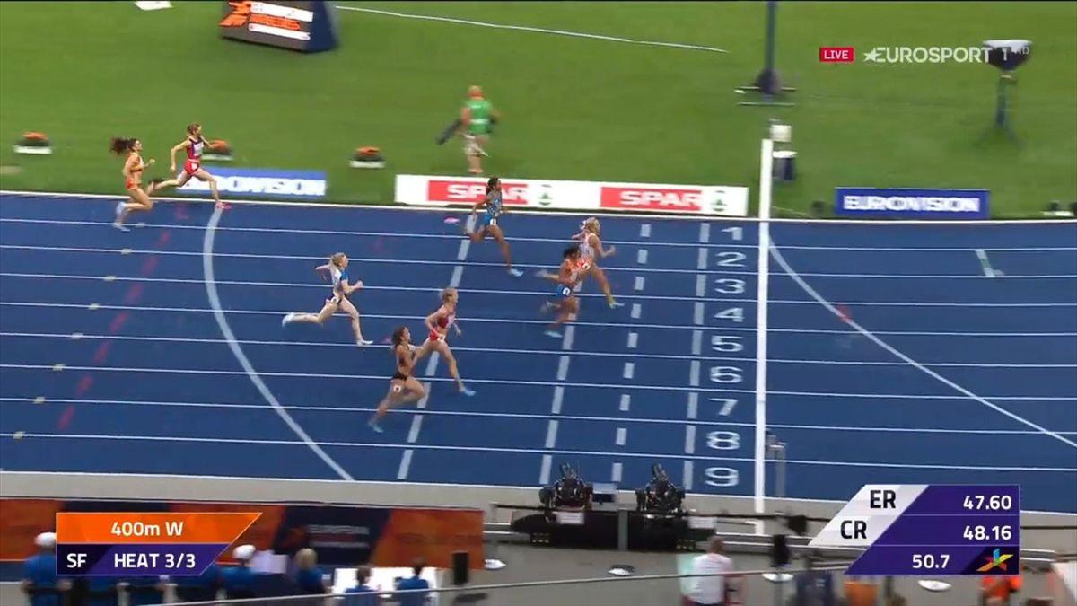 Finish semi final 400m Berlin