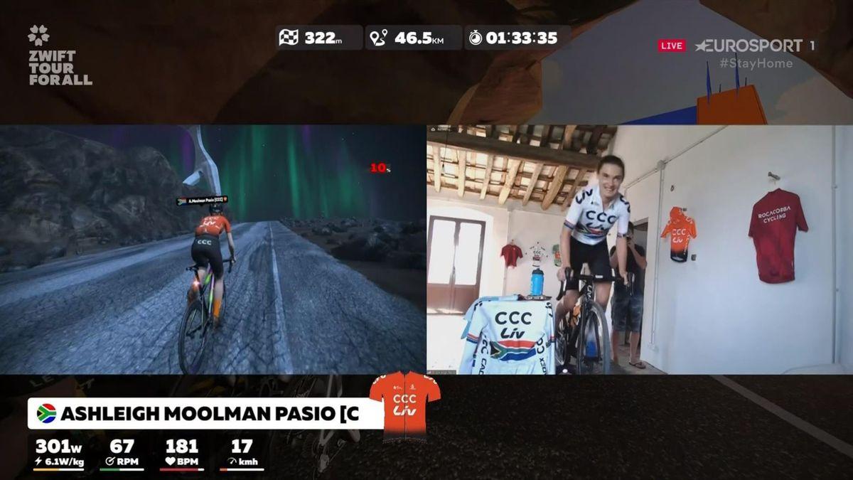 Ashleigh Moolman Pasio on the Tour for All