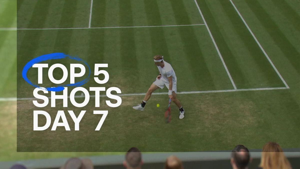 Wimbledon| De mooiste punten van dag 7 op Wimbledon