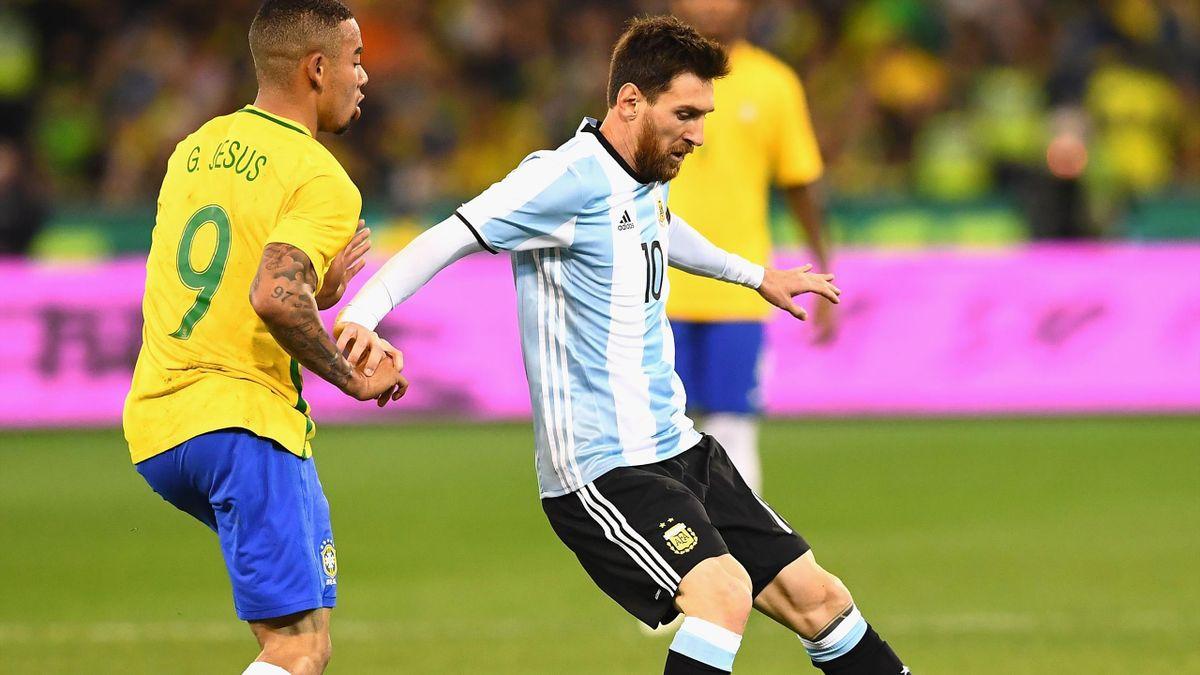 Gabriel Jesus, Leo Messi, Bresil-Argentine