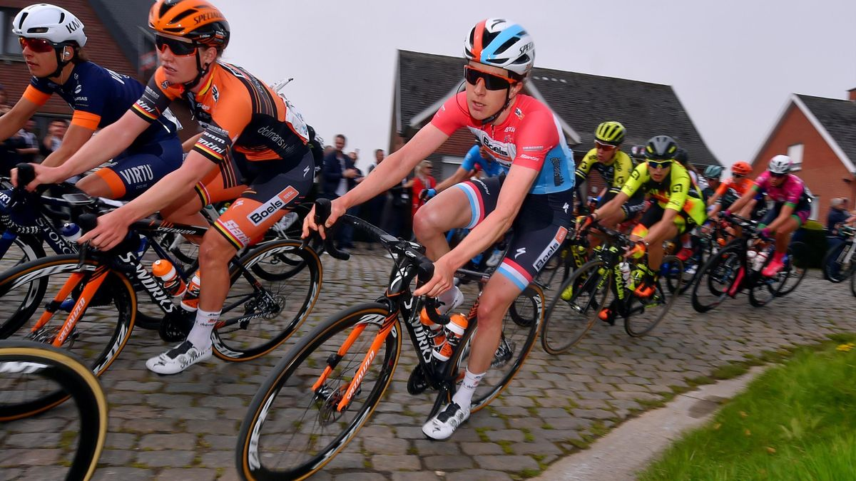 Christine Majerus of Luxembourg and Boels Dolmans Cyclingteam / Cobblestones / during the 16th Tour of Flanders 2019 - Ronde van Vlaanderen, Women Elite a 159,2km race from Oudenaarde to Oudenaarde