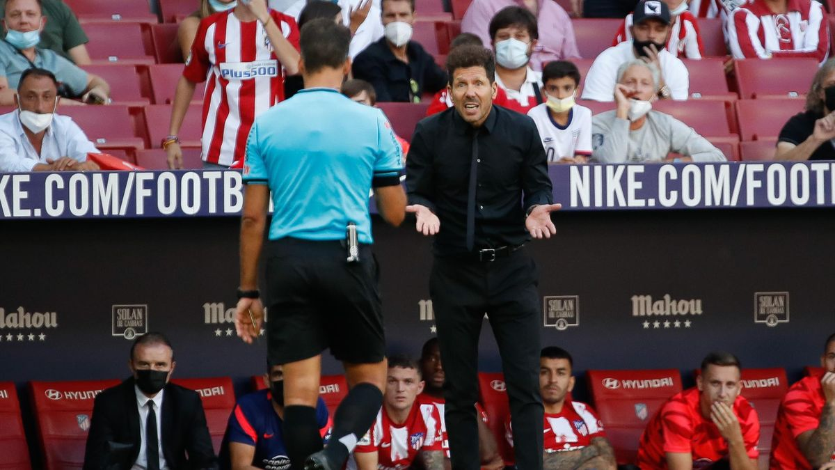 Jesús Gil Manzano y Diego Simeone (Atlético)