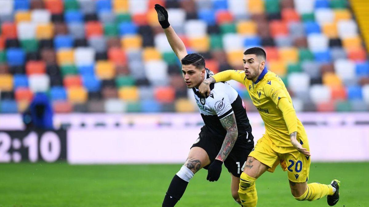 Kevin Bonifazi e Mattia Zaccagni - Udinese-Verona Serie A 2020-21