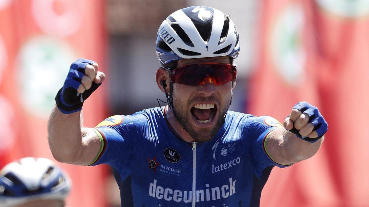 Mark Cavendish bei seinem Etappensieg in Belgien
