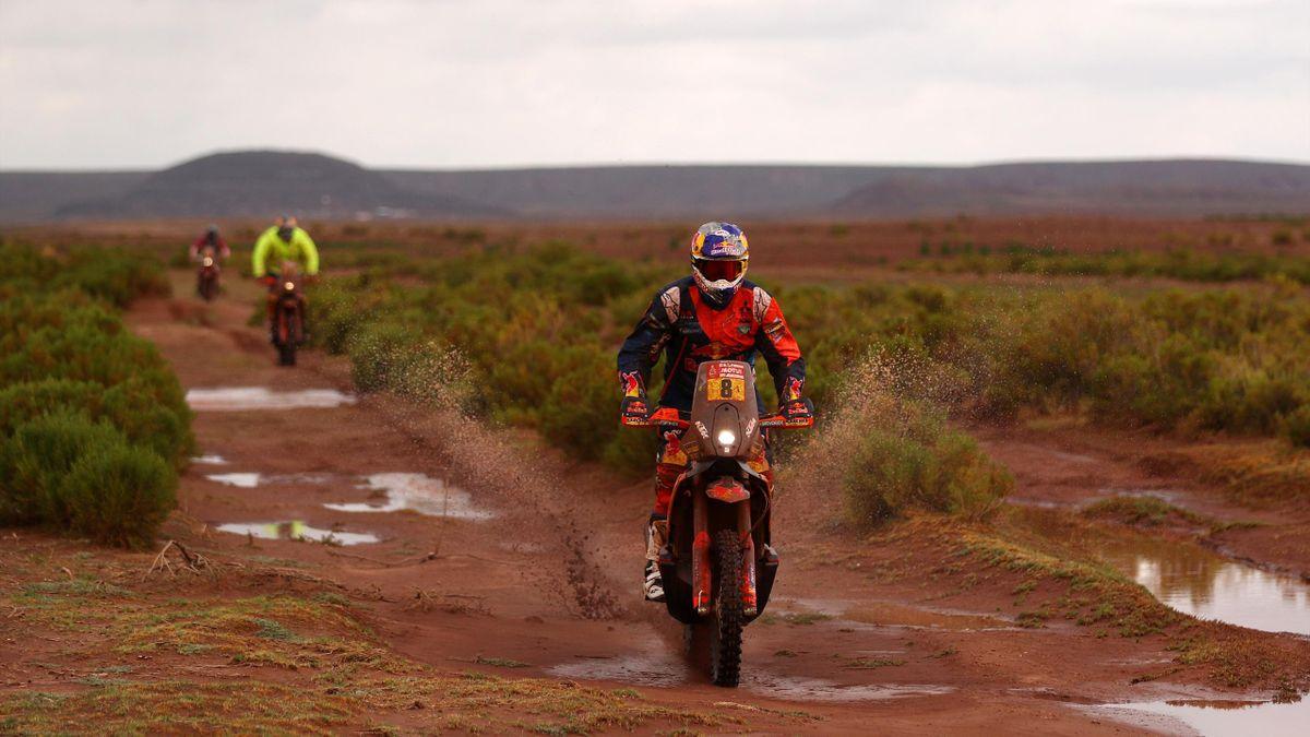L'Australien Toby Price sur sa moto KTM lors du Dakar 2018.