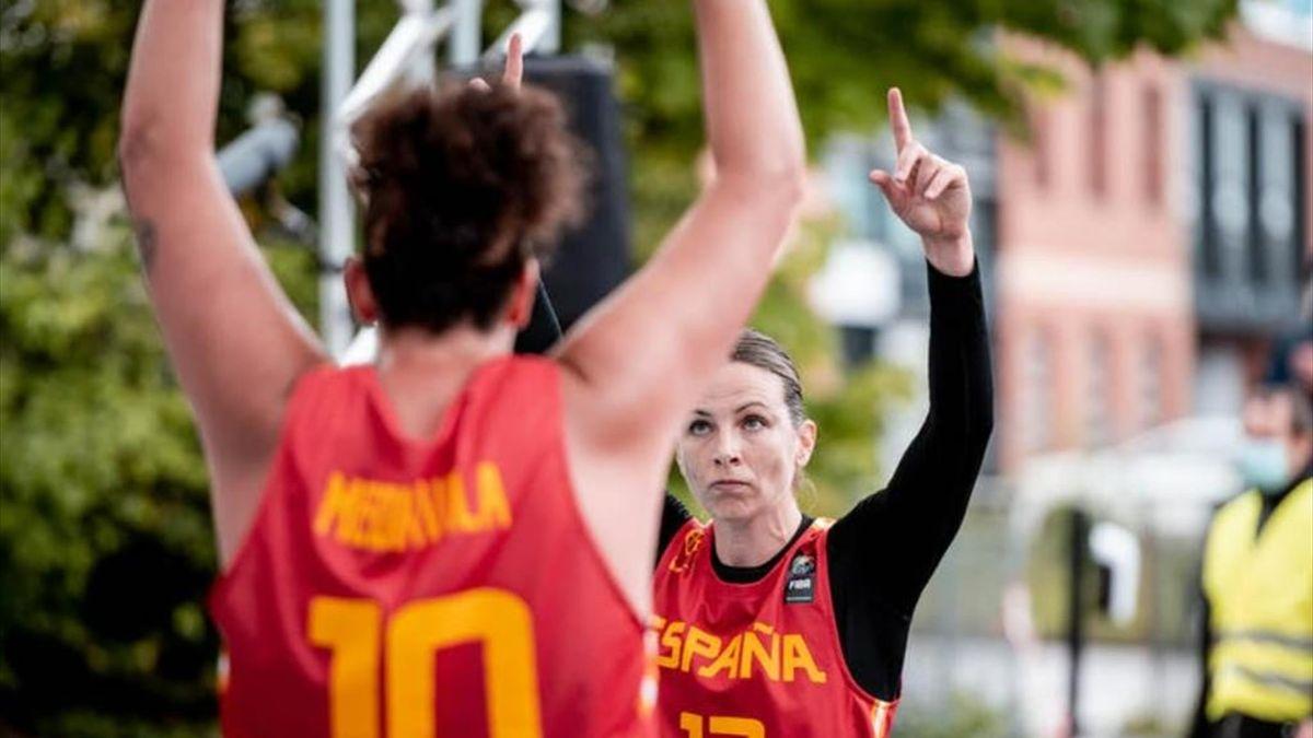 Jugadoras de la selección española de baloncesto 3x3