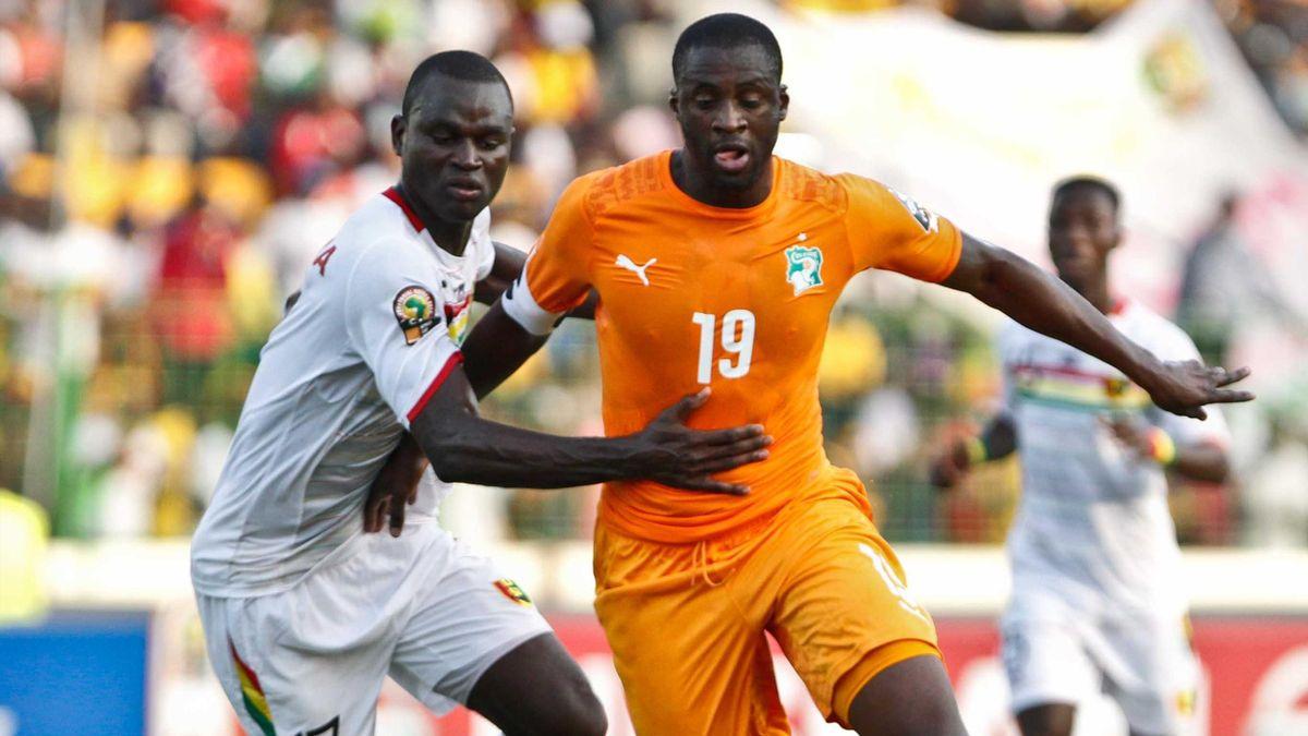 Yaya Touré (Côte d'Ivoire) face à Boubacar Fofana (Mali)