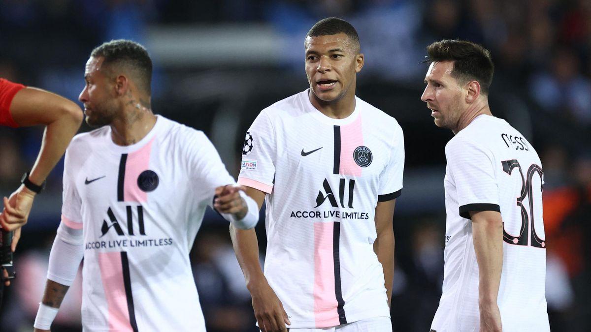Neymar, Kylian Mbappé, Lionel Messi