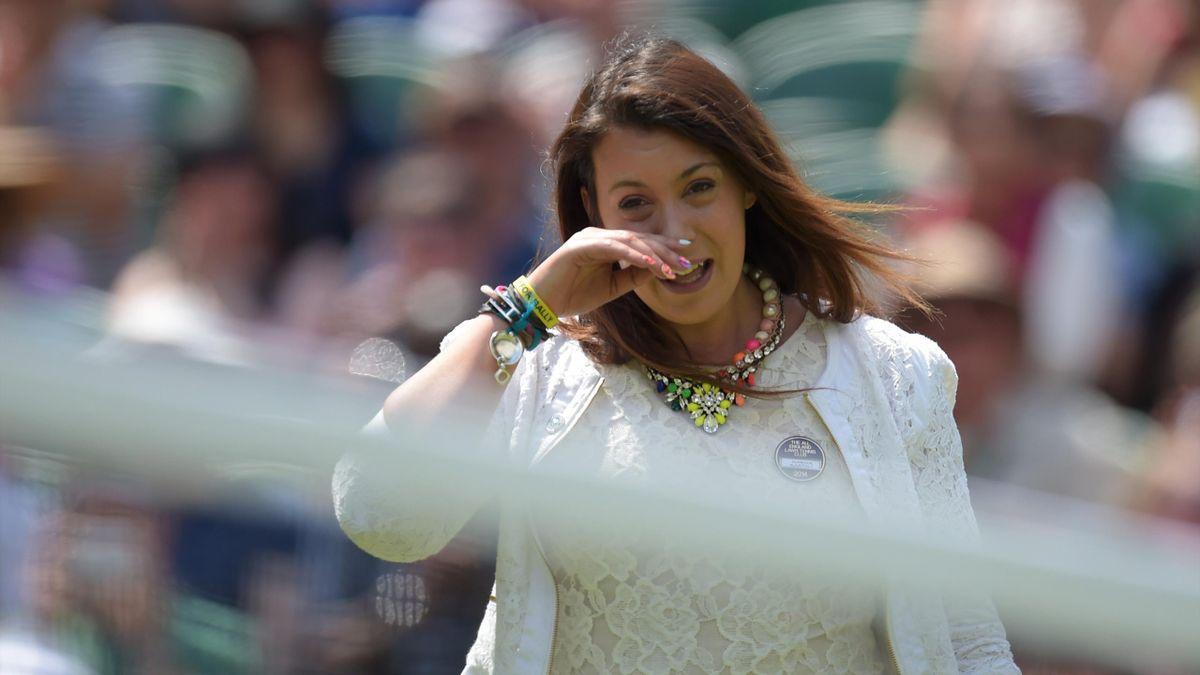 Marion Bartoli à son retour à Wimbledon en 2014
