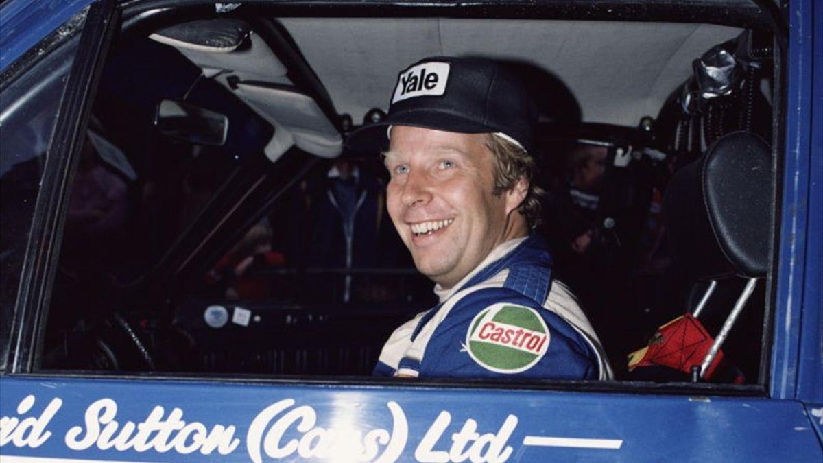 Hannu Mikkola (Ford) au Rallye de Grande Bretagne 1980