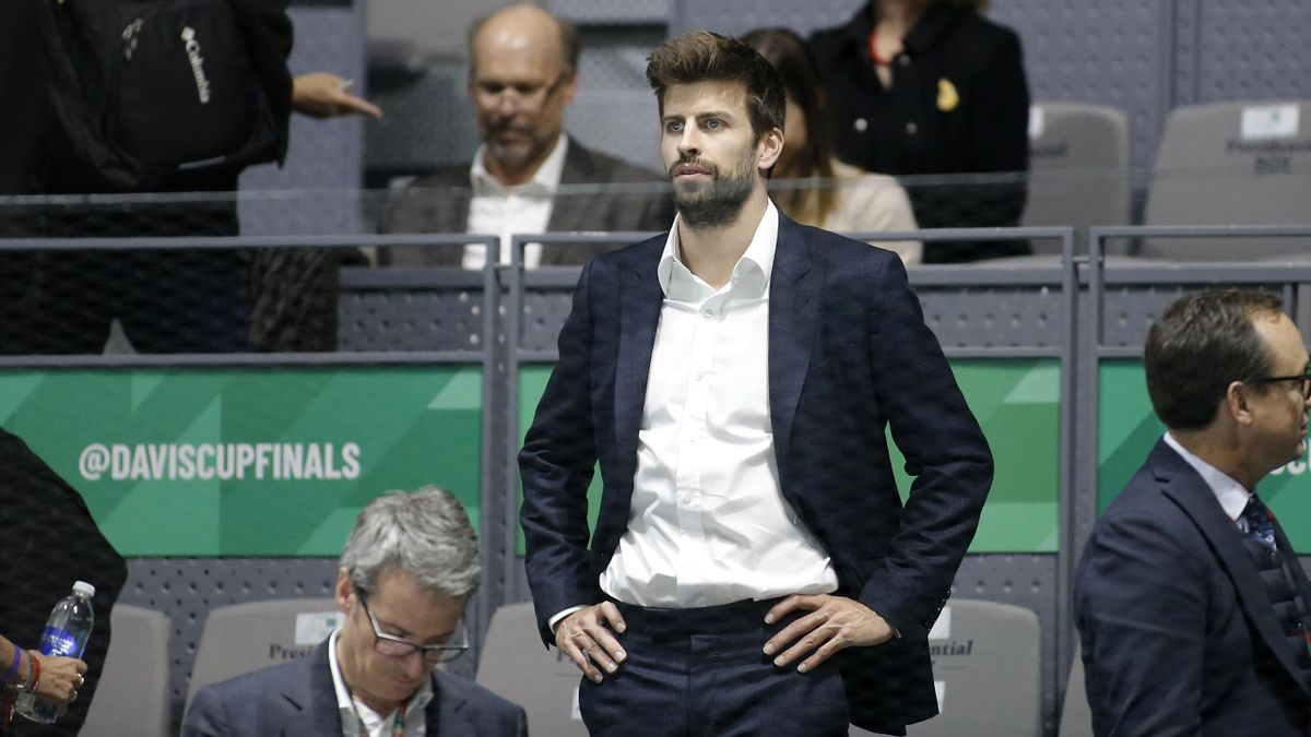 Gerard Piqué à Madrid pour la Coupe Davis en 2019