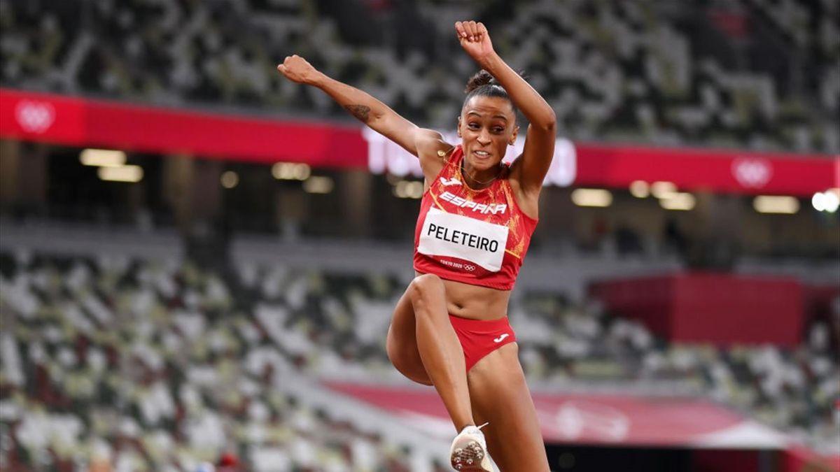 Ana Peleteiro en la clasificación de triple salto de Tokyo 2020