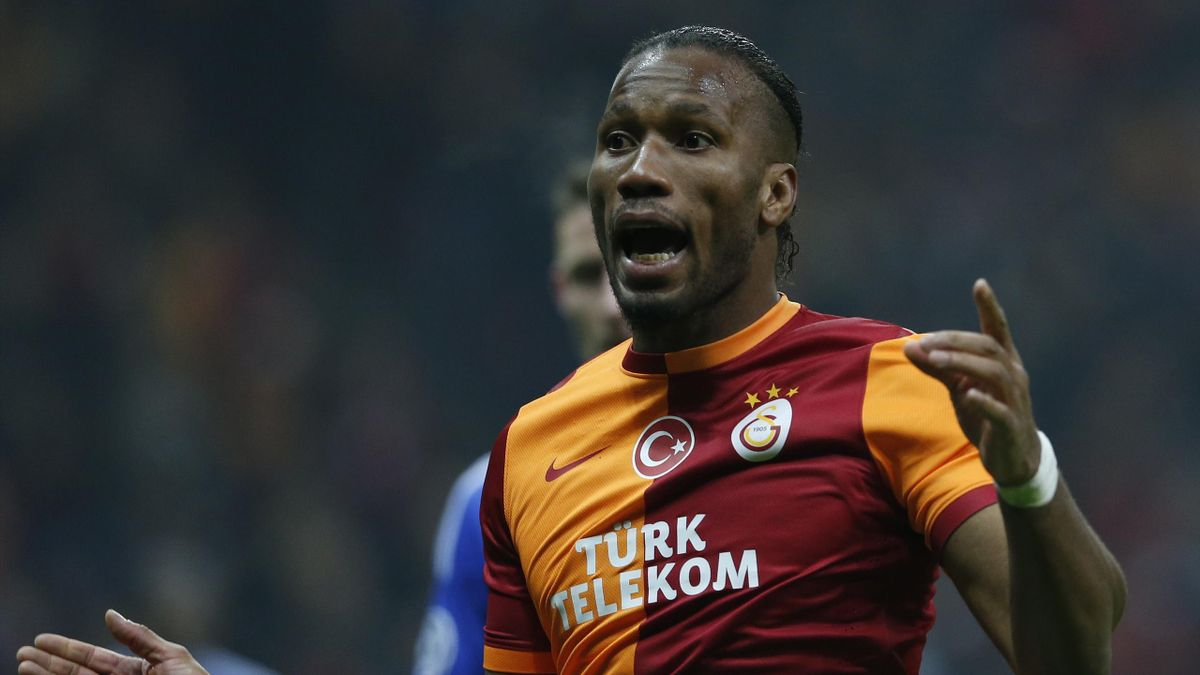 Didier Drogba during Galatasaray's match with Chelsea (Reuters)