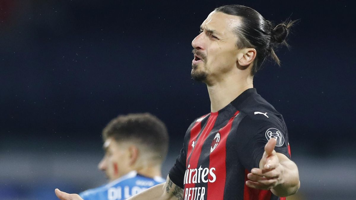 Zlatan Ibrahimovic looks frustrated