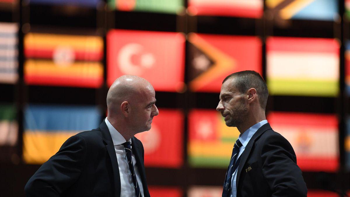 FIFA-Präsident Gianni Infantino und UEFA-Präsident Aleksander Ceferin