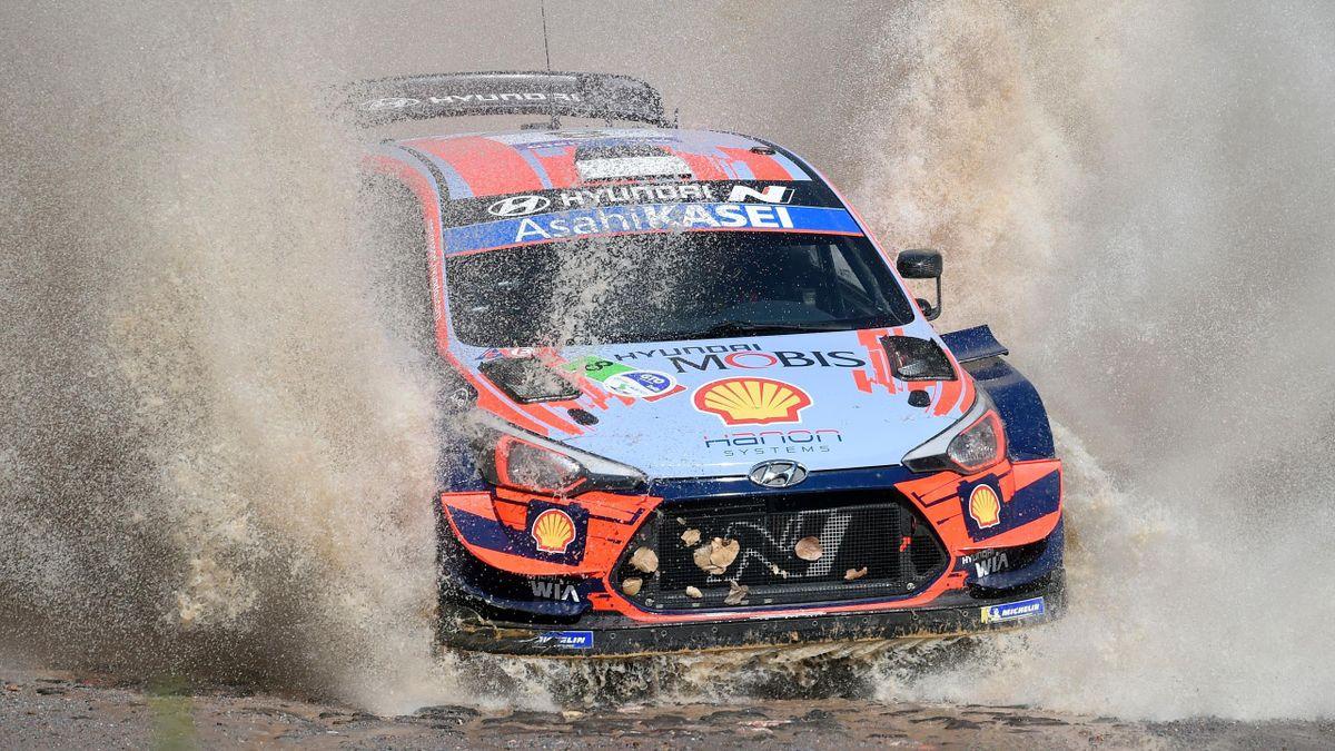 Ott Tänak (Hyundai MST) au Rallye du Mexique 2020
