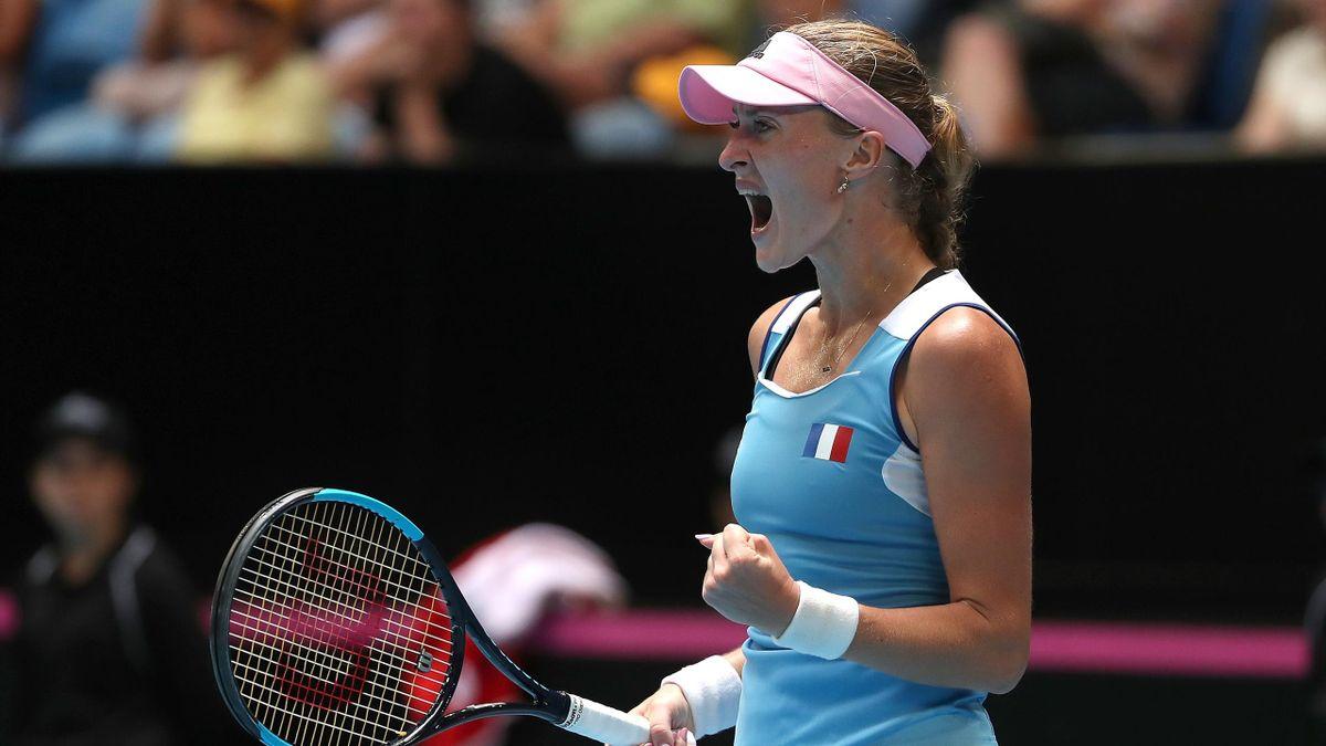 Kristina Mladenovic en finale de la Fed Cup 2019 à Perth