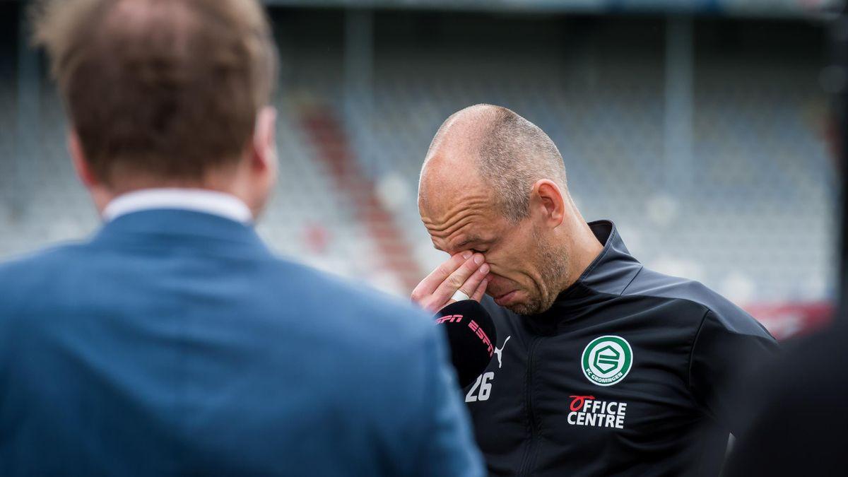 Arjen Robben, la finalul meciului Emmen - Groningen