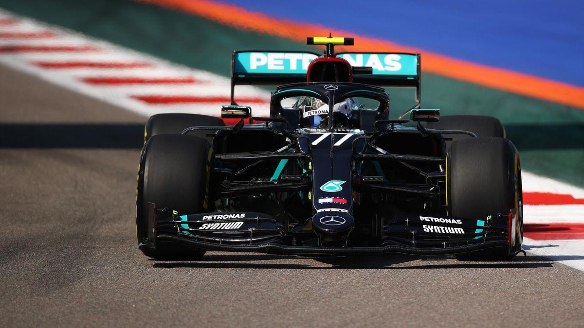 Valtteri Bottas devant lors des premiers essais libres du GP de Russie.
