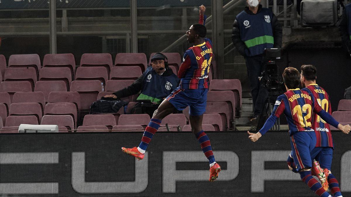Ousmane Dembélé jubelt - FC Barcelona vs. Real Valladolid