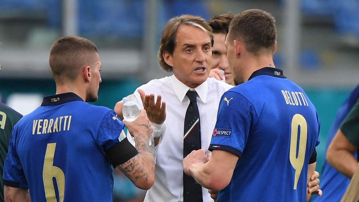Roberto Mancini durante Italia-Galles - Euro 2020