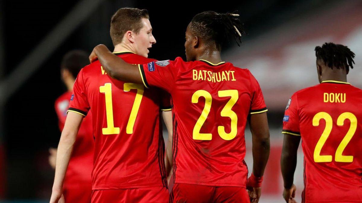 Vanaken e Batshuayi esultano per un gol in Bielorussia-Belgio - Qualificazioni Mondiali 2022 - Getty Images
