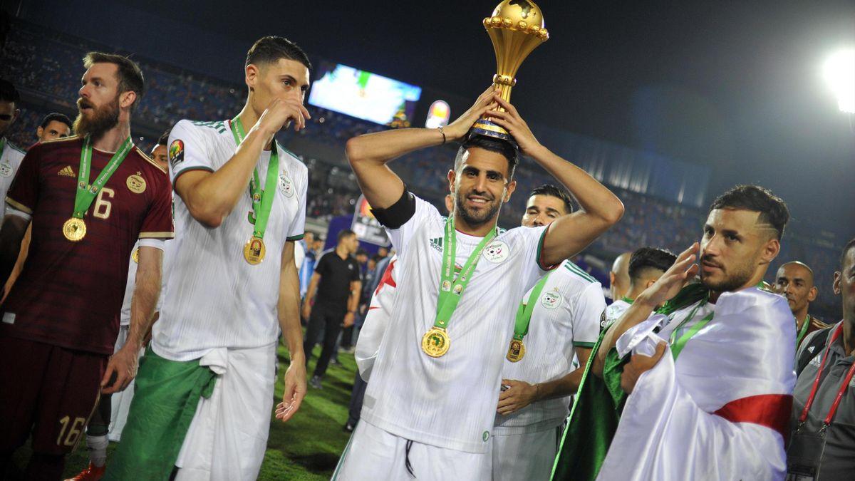 Riyad Mahrez, vainqueur de la CAN 2019 avec l'Algérie.