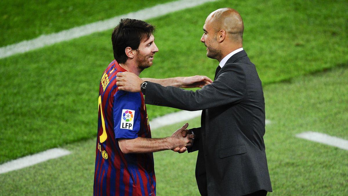 Lionel Messi (l.) und Pep Guardiola arbeiteten beim FC Barcelona von 2008 bis 2012 zusammen. Bei Manchester City könnte es zur Wiedervereinigung kommen