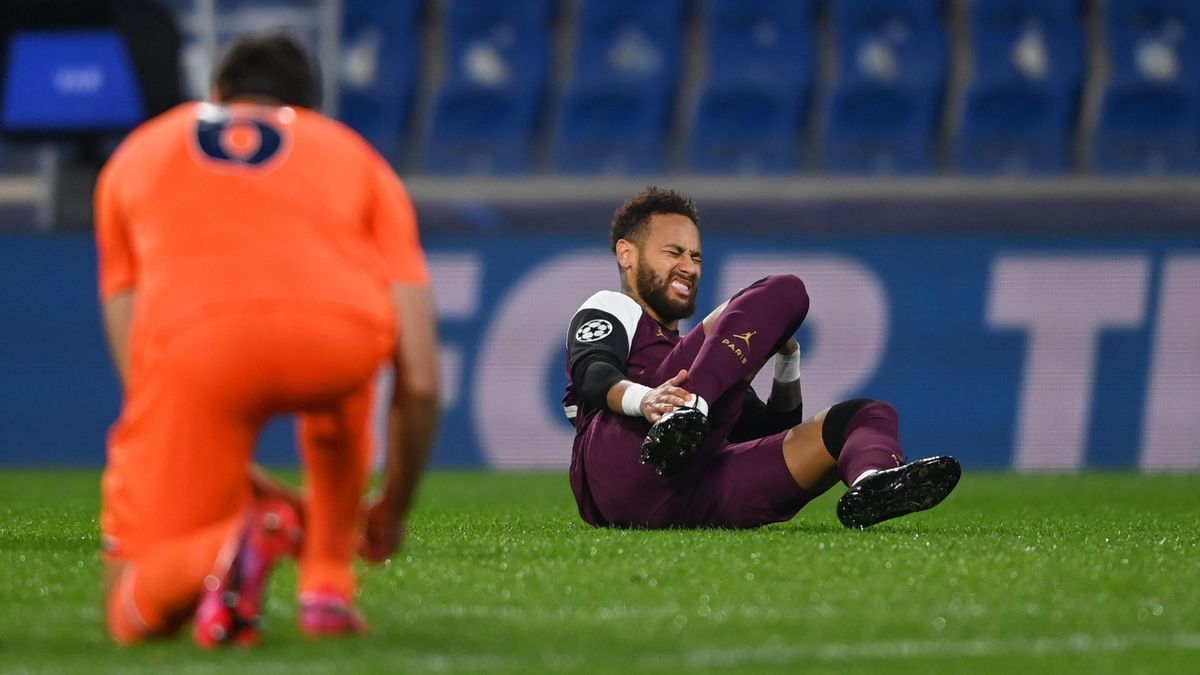Neymar picked up an injury in European competition