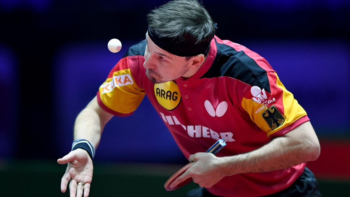 Timo Boll bei der Tischtennis-WM in Budapest