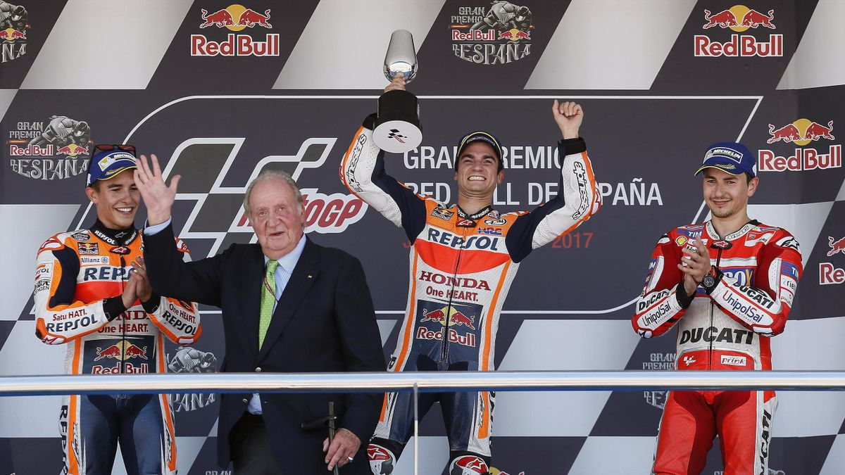 Márquez, Juan Carlos I, Pedrosa, Lorenzo   Moto GP