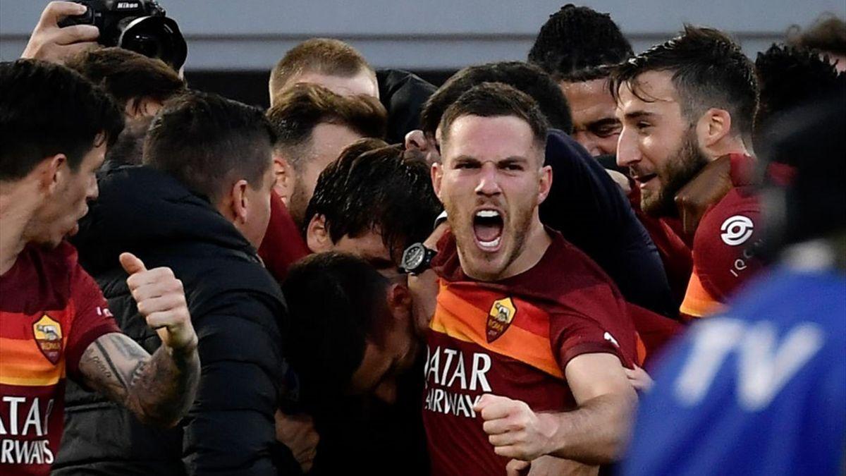 Pellegrini, Veretout - Roma-Spezia - Serie A 2020/2021 - Getty Images