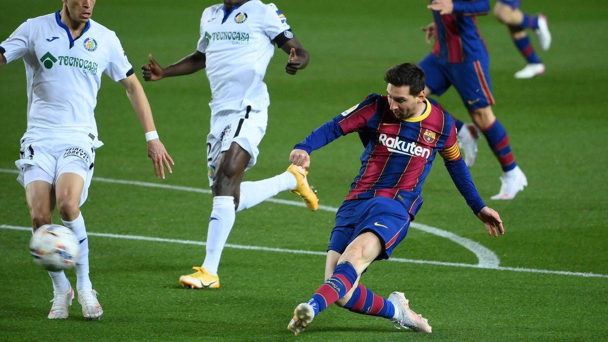 Resumen Barcelona-Getafe: Messi se conformó con el doblete
