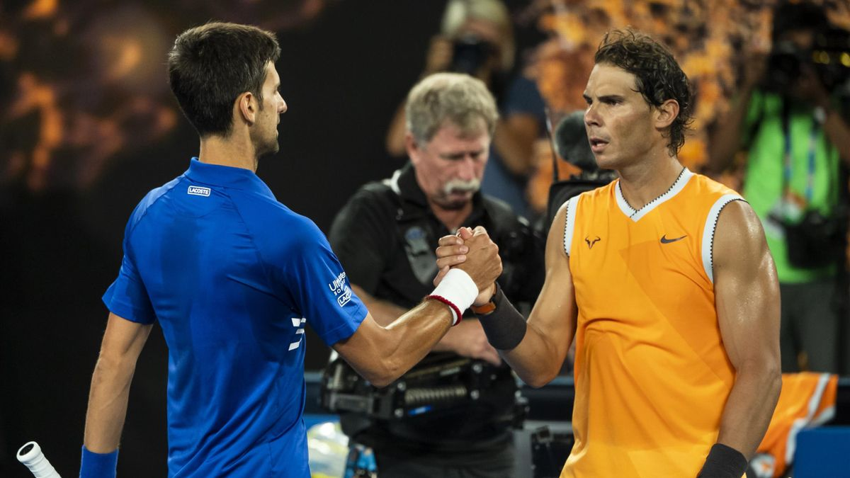 Rafael Nadal and Novak Djokovic in the 2019 Australian Open final