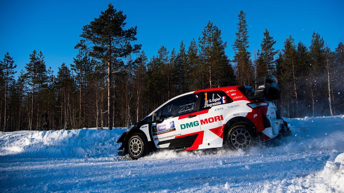 Sébastien Ogier (Toyota)  sur le Rallye Arctique