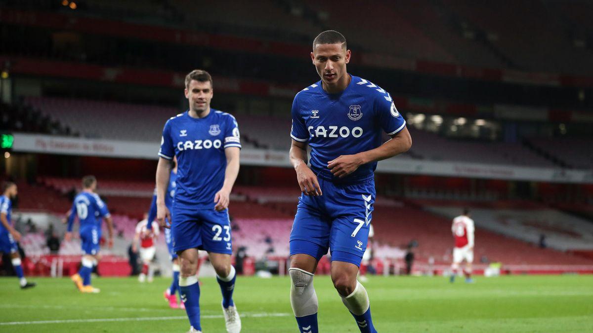 Richarlison of Everton dances