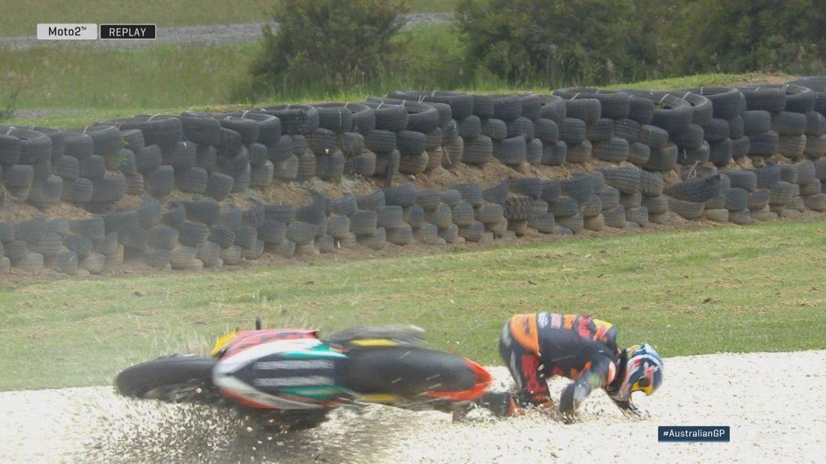 Australian GP - Moto 2 FP3 - Crash Binder