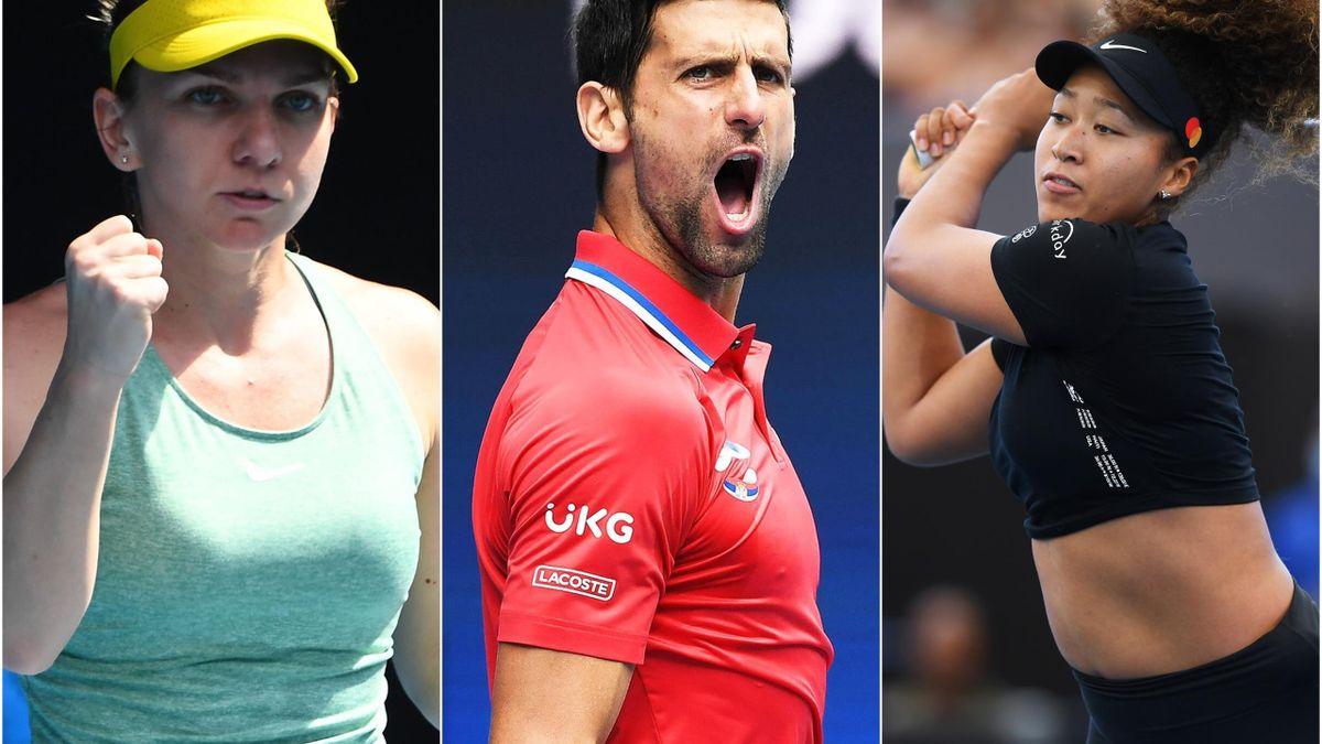 Simona Halep & Novak Djokovic & Naomi Osaka