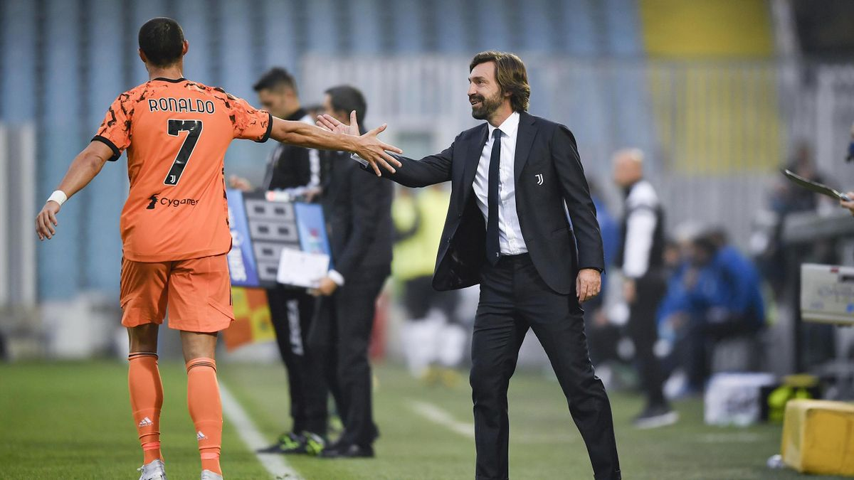 Cristiano Ronaldo con Andrea Pirlo
