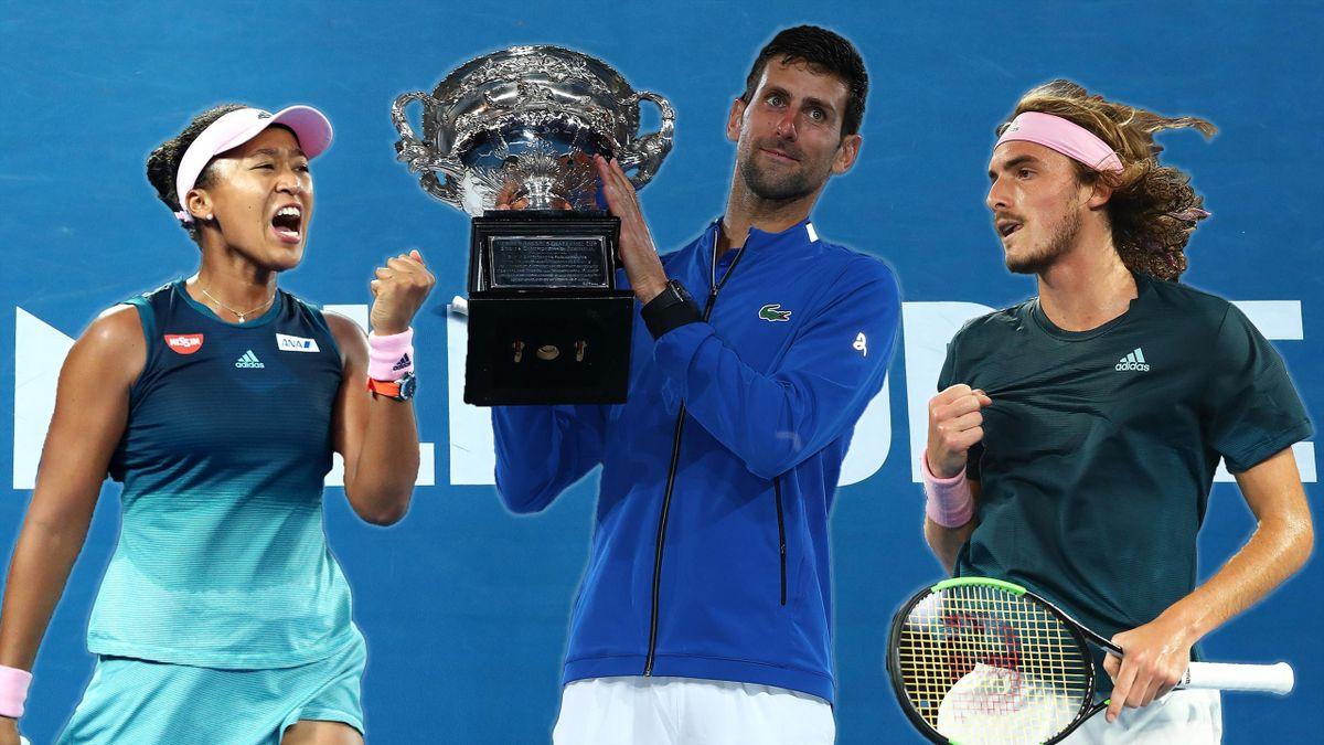 Naomi Osaka, Novak Djokovic, Stefanos Tsitsipas, Australian Open
